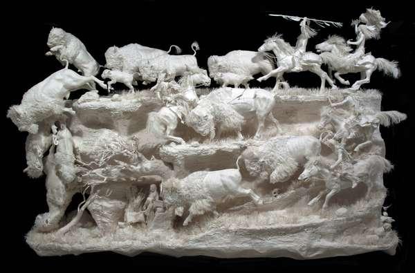 скульптуры из бумаги Аллен и Пэтти Экман