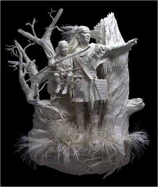 Бумажные скульптуры Аллен и Пэтти Экман
