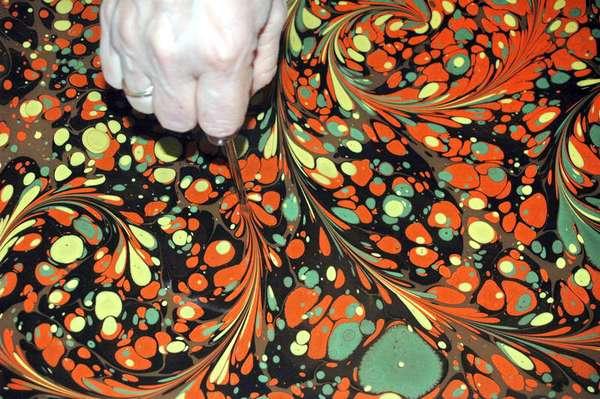 рисунки на воде искусство эбру
