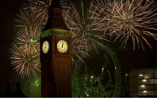 новогодний фейерверк в лондоне 1