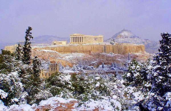 греция зимой