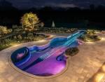 Роскошный бассейн в форме скрипки Страдивари