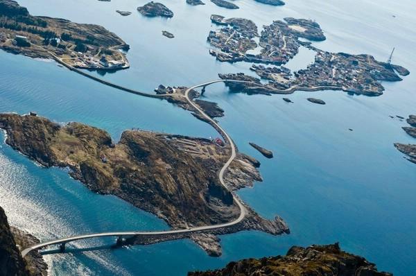 красивая дорога норвегия