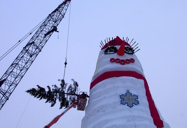 снеговик олимпия
