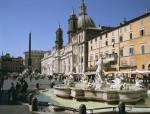 Площадь Навона в Риме, Италия