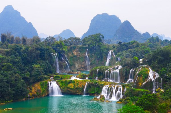 Картинки по запросу Водопад Дэтянь