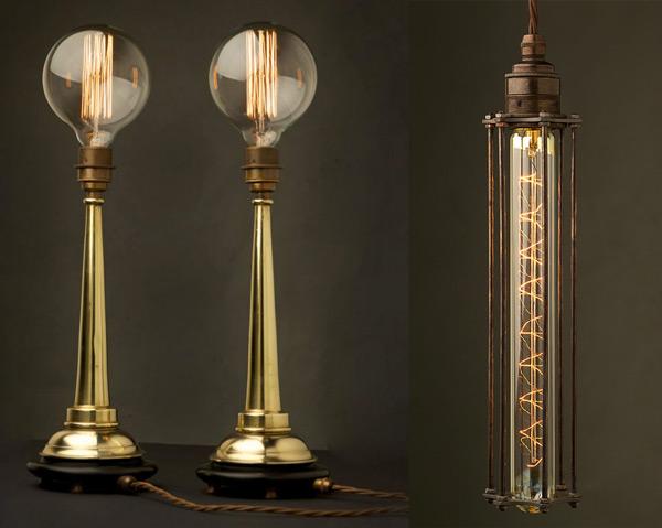 красивые светильники в промышленном стиле