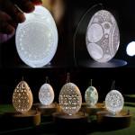 Изящная резьба по яичной скорлупе от художника Фрэнка Грома