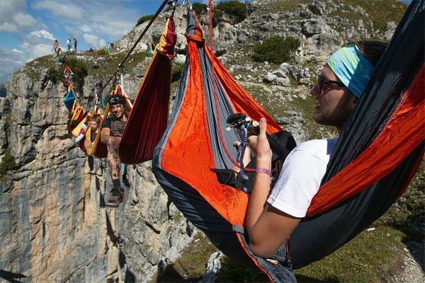 международный фестиваль слэклайна в итальянских альпах