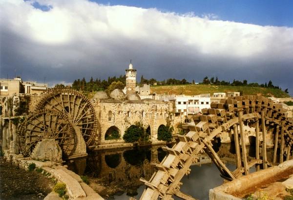 водяные мельницы в сирии
