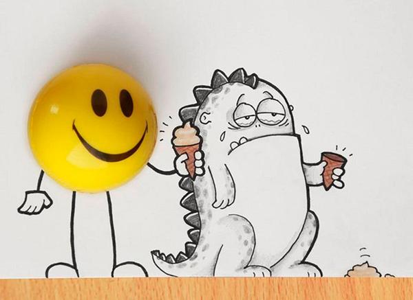 смешные рисунки карандашом