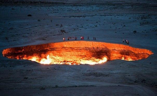 Врата в Ад— газовый кратер Дарваза в Туркменистане