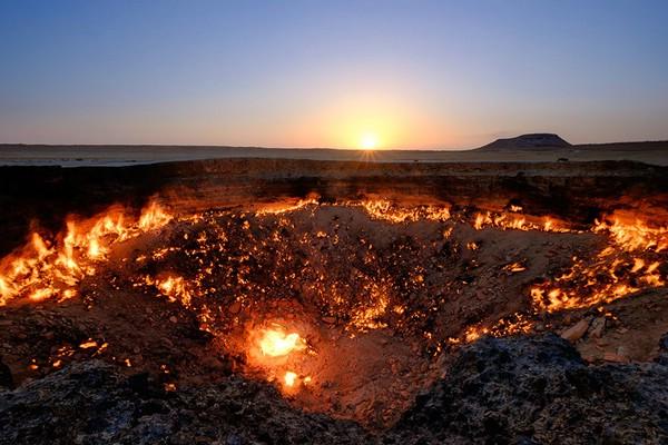 газовый кратер дарваза туркменистан