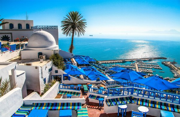 город Сиди-Бу-Саид Тунис