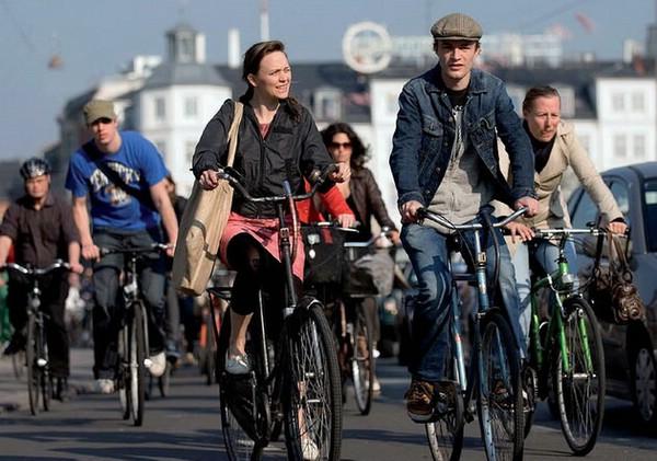 велосипедисты копенгагена