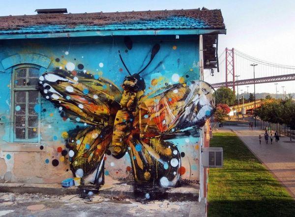 3D-граффити инсталляции уличного художника Bordalo II