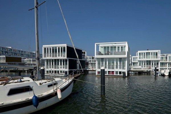 Плавучие дома района Waterbuurt, Амстердам