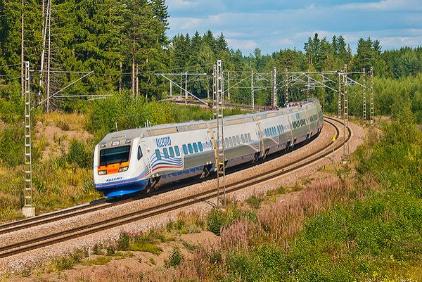 в хельсинги на поезде