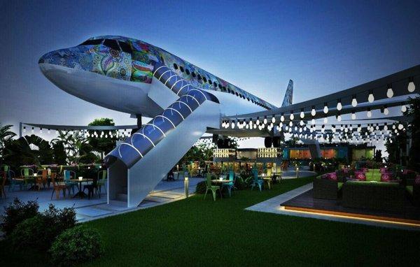 ресторан в самолете индия
