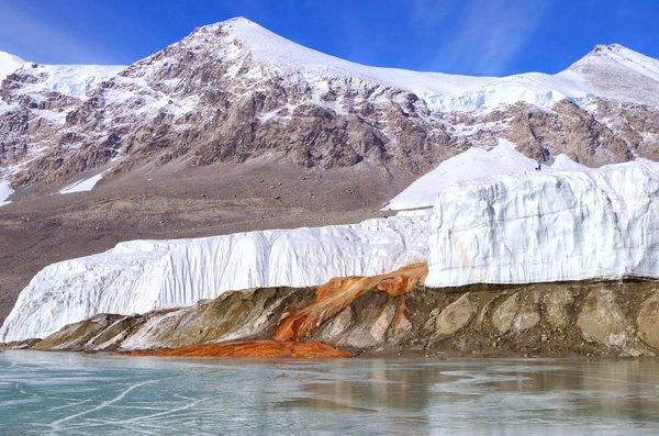 антарктида кровавый водопад