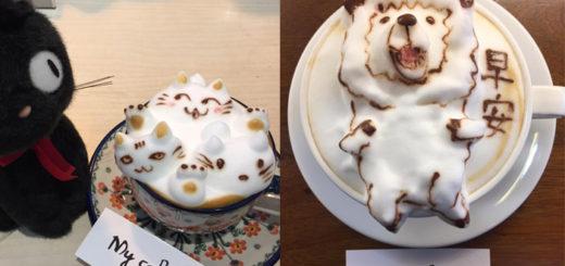 кофе с 3д пенкой рисунки на кофе