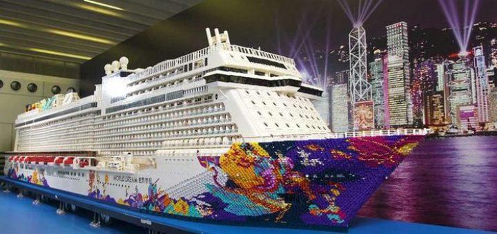 самая большая модель корабля из лего