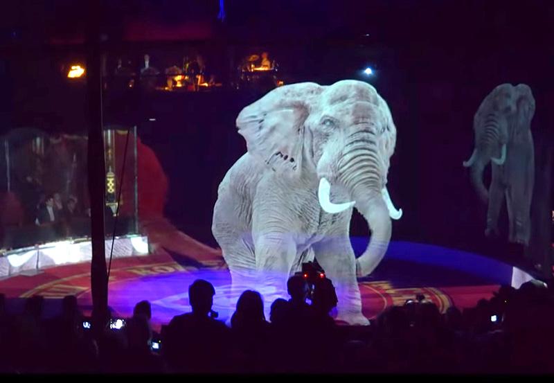 цирк Roncalli голограммы животных